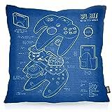 VOID N64 Controller Kissenbezug Kissenhülle Outdoor Indoor 64-Bit Videospiel, Kissen Größe:40 x...
