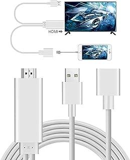AMANKA Adaptador Smartphone a HDMI, 3 in 1 Full HD Mirroring Cable 1080P Smartphone MHL a HDMI Digital AV Convertidor Comp...