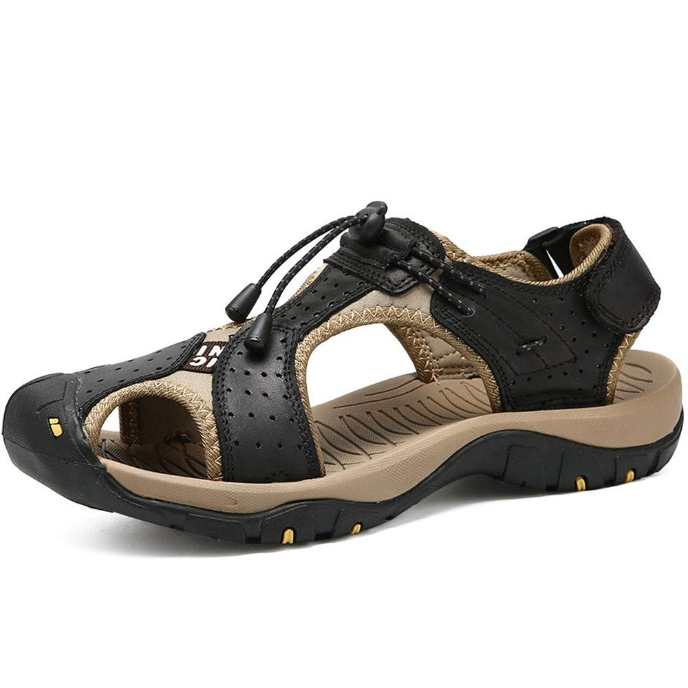 〓COOlCCI〓Mens Sports Sandals Men Sandals Summer Beach Shoes,Men Hollow Sandals Slip-on Toe Roman Casual Shoes