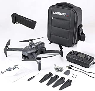 Drone X Pro LIMITLESS 3 GPS 4K UHD Camera Drone for Adults with EVO Obstacle Avoidance, 3-Axis...