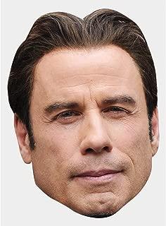 John Travolta Celebrity Mask, Card Face and Fancy Dress Mask