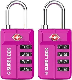 TSA Approved Travel Luggage Locks, Open Alert Combination Lock for School Office & Gym Locker,Toolbox, Pelican Case,Easy R...