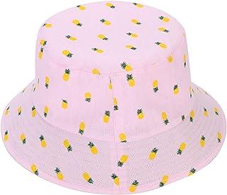 e7c547edfd7 ITODA Summer Foldable Reversible Sun Hat UPF 50+ Beach Breathable Pineapple  Bucket Wide Brim Elegant