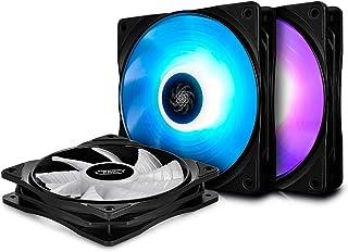 Deepcool RF120M 3 Ventole 6 LED RGB PWM da 120 mm, Cooling Fan Silenzioso 500-1500 rpm, Compatibile con Scheda Madre, RGB Sync 12V a 4 Pin