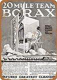 Lplpol Cartel de aluminio de metal de Mule Team Borax Detergente Vintage Letrero de hojalata Cartel...