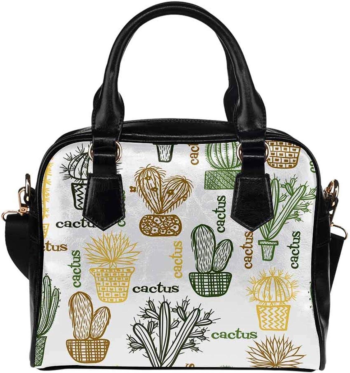 InterestPrint Funny Design Women's PU Leather Purse Handbag Shoulder Bag