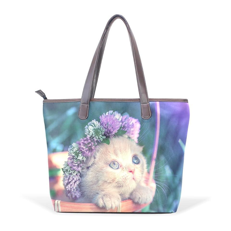 特定のファーザーファージュロイヤリティバララ(La Rose) トートバッグ レディース ブランド a4 PU レザー 通勤 通学 収納 大容量 かわいい ネコ 猫柄 ハンドバッグ おしゃれ 軽量 キャンバス 2way 丈夫 ファスナー付き ママ かばん 手提げバッグ