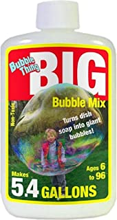 Bubble Thing Big Bubbles Mix Makes 5.4 Gallons Giant Bubble Solution. Refills All Bubble Makers.