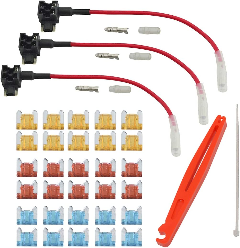 FOSHIO 3Pack 12V 24V Automotive Circuit Replacement A Fuses Max 85% OFF Austin Mall Add