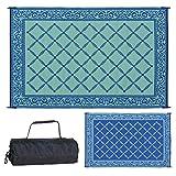 Reversible Mats 116093 Outdoor Patio 6-Feet x 9-Feet, Blue/light-Green RV Camping Mat