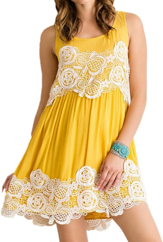 Entro Women's Sleeveless Dress Mustard Yellow
