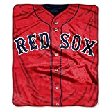 MLB Boston Red Sox Jersey Plush Raschel Throw, 50' x 60'