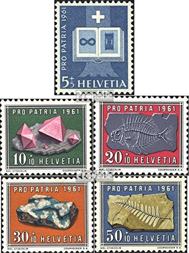 Prophila Collection Schweiz 731-735 (kompl.Ausgabe) 1961 Pro Patria (Briefmarken für Sammler) Mineralien / Schmuck