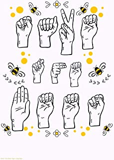 Save The Bees Sign Language: Garden & Animals Composition Book