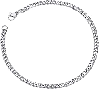 ChainsPro 3/6/9/12mm Width Unisex Curb Chain Bracelet, 21CM,18K Gold Plated/316L Stainless Steel (Send Gift Box)