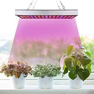 LED Grow Light for Indoor Plants,2020 New Design Full Spectrum Panel Plant Light with IR & UV LED Bulbs for Seedling/Veg/Blooming/Succulents (Daisy Chain Design)