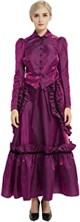 GRACEART Steampunk Women Costume Edwardian Dress Set Coat+Skirt+Bustle