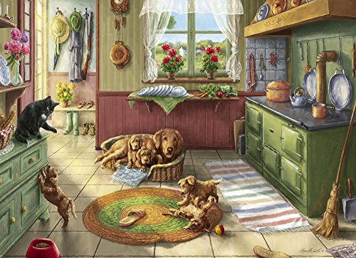 Vermont Christmas Company Cuccioli d'oro Jigsaw Puzzle 1000 Pezzi