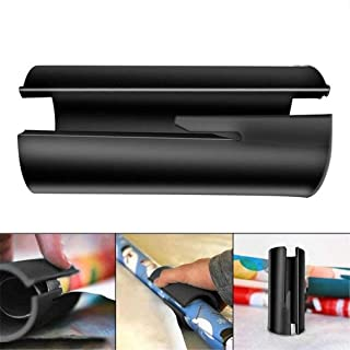 CloverUS Sliding Wrapping Paper Cutter Wrapping Paper Roll Cutter Tool Christmas Gift(Black)
