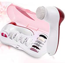 Erectaid 11 in 1 Face Facial Exfoliator Electric Massage Machine Care & Cleaning Massager Kit For Smoothing Body Beauty Care Skin Face Cleaner Massage Machine facial massager Machine for face (Red)