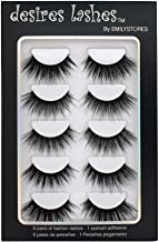 DESIRES LASHES By EMILYSTORES Natural Eyelashes 3D Faux-Mink Lashes Multipack 5Pairs, Sensual
