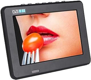 Ccylez HD 1080P DVB T2 Digitaler Analog Farb Fernseher, mobiler Fernseher mit Fernbedienung und wiederaufladbarem Akku für den Außenbereich, Fernseher, 110 V ~ 240 V (9 Zoll)