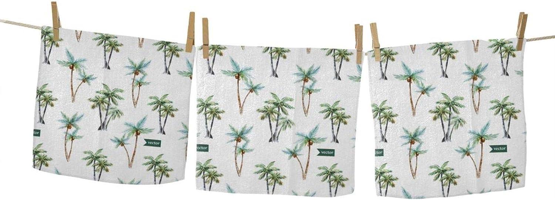 Palm Square Towel Face Cloths Max 75% OFF Soft Washcloths Super sale Hand Towels Bath W