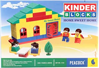 Peacock Kinder Blocks Home Sweet Home