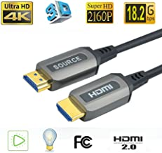 Jeirdus 82ft AOC HDMI Fiber Optic Cable Ultra HDR HDMI2.0b 18 Gbps,Support 4K60HZ ARC HDR10 HDCP2.2, Dolby Vision, Light Speed Slim and Flexible
