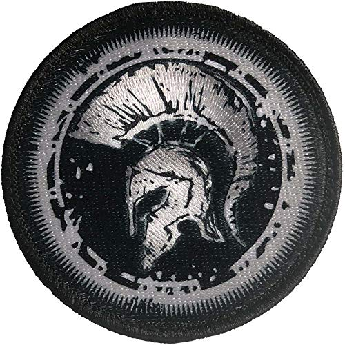 Escudo Espartano 100% Bordado - Parche Ropa - Parches Militares - parches para tela - parches para jeans - Dimensiones 76 x 76 mm