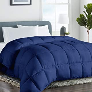 COHOME Twin/Twin XL 2100 Series Cooling Comforter Down Alternative Quilted Duvet Insert with Corner Tabs All-Season - Plush Microfiber Fill - Reversible - Machine Washable - Navy