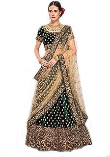 336ddeef78 MRS WOMEN Women's Silk Semi-Stitched Lehenga Choli (Beige; Free Size)