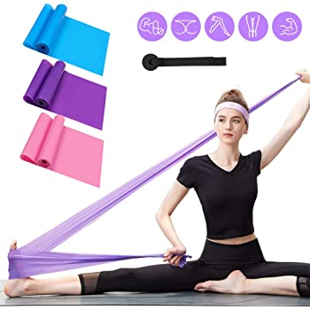 Recovery Low-Impact Progressive Strength Non-Slip Shape Physical Training Phoenix Legend Exercise Resistance Bands 5 Loop Set Men and Fitness Stretching Wide Workout Women