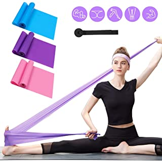 Resistance Bands Set, 3 Pack Professional Latex Elastic Bands for Home or Gym Upper & Lower Body Exercise, Physical Therap...