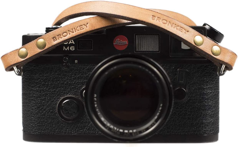 Sony Bronkey Berlin 102 Panasonic Connexion Universelle dappareils Photo compacts Nikon Canon 120 cm Vintage Style Sangle en Cuir pour Appareil Photo