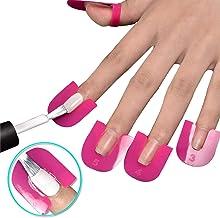 PPX 2 Caja de plástico flexible para esmalte de uñas que protege el esmalte de uñas de fugas y puede ser reutilizable, paquete de 52