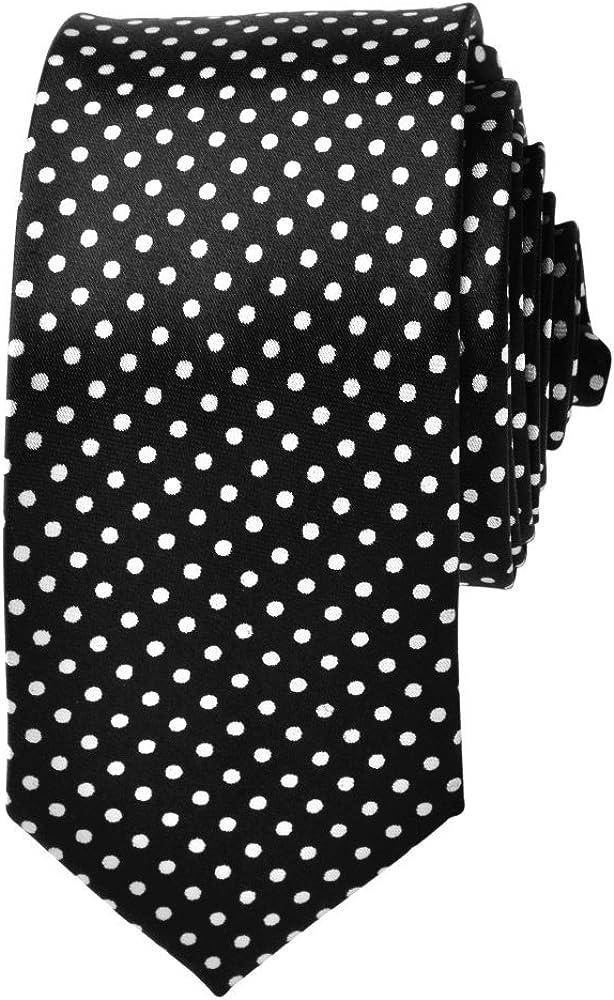 TopTie Unisex Black With White Polka Dots Skinny 2