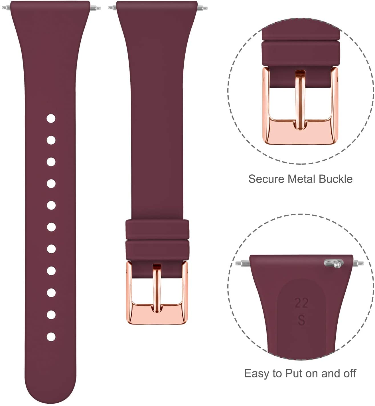 Soft Replacement Sport Wristbands Accessories for Women Men Tobfit ...