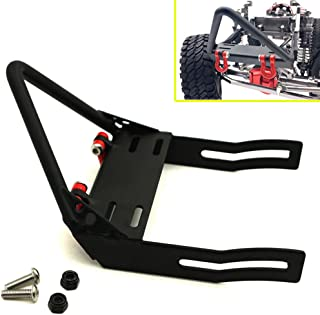 1/10 Scale RC Car Metal Front Bumper with Winch Mount Shackles for Axial SCX10 Upgrade