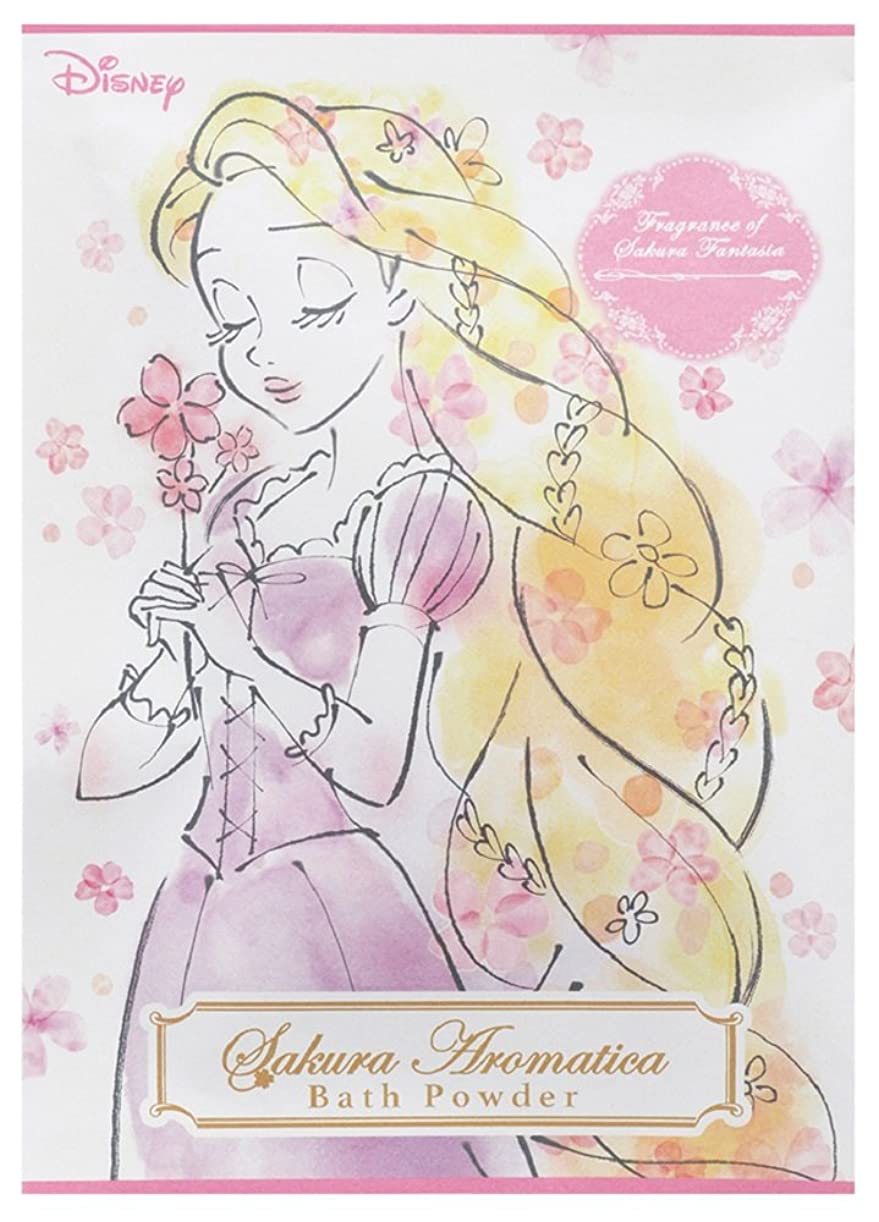 破壊する寛解ランドマークディズニー 入浴剤 バスパウダー ラプンツェル サクラアロマティカ 桜の香り 40g DIT-5-02