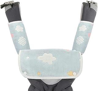Luchild 抱っこひも用よだれカバー 3枚セット 抱っこひも よだれパッド 肩紐カバー 赤ちゃんキャリアよだれカバー かわい 雲の色柄6重ガーゼ 綿100% 柔らかい 吸湿速乾 細菌防止 すべて抱っこ紐にも対応 出産お祝い