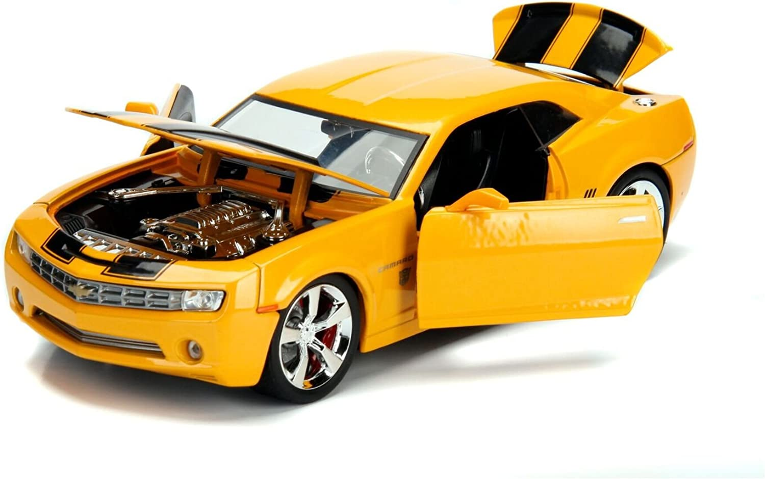 Transformers Bumblebee 2006 Chevy Camaro Concept Diecast Car, 1 24 Scale Vehicle, Yellow