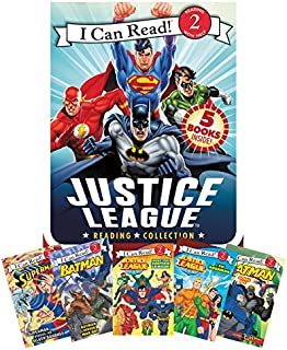 Justice League Reading Collection: 5 I Can Read Books Inside! (I Can Read Level 2)