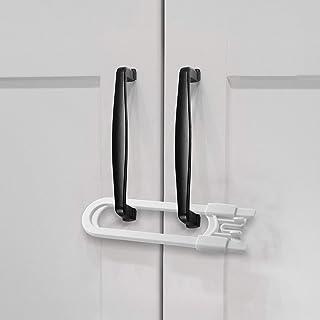 Adoric Sliding Child Safety Cabinet Locks, U Shaped Baby Proof Cupboard Kitchen Lock, Childproof Cabinet Latch Kid Safety ...