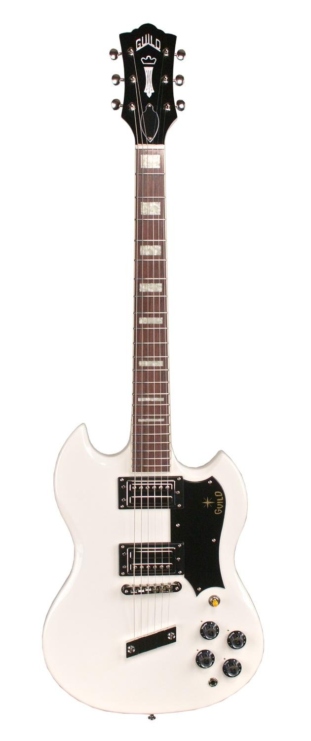 Cheap Guild 16 S-100 Polara Solid Body Electric Guitar with Deluxe Gig Bag (White) Black Friday & Cyber Monday 2019