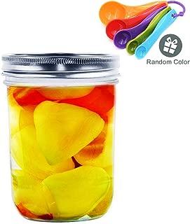 16OZ Mason Jar, Hanamichi Ball Mason Jar Quilted Jelly Jars with lids, For Canning - Freezing - Preserving - Beverages & Jar Decor - Microwave & Dishwasher Safe