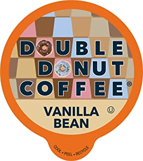 French Vanilla Coffee Pods, Vanilla Bean Flavored Coffee in Recyclable Single Serve Vanilla Pods for the Keurig K Cups Coffee Makers, From Double Donut - 24 cups
