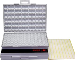 Two SMD SMT Resistor Capacitor 1206 0805 0603 Box Organizer Craft Beads Storage 144 Compartments for each box