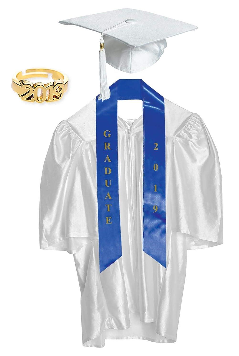 Preschool & Kindergarten Graduation Cap and Gown with Tassel, Sash, Ring and Certificate