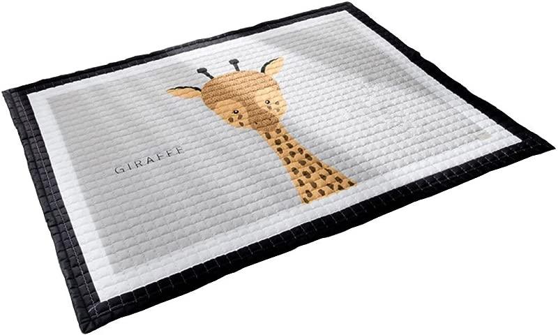 LAGHCAT Children Rug Thickening Carpet With Animal Soft Christmas Mat For Baby Creeping Giraffe 57x77 Inch